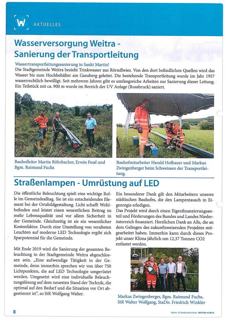 LED Umstellung Weitra 2019